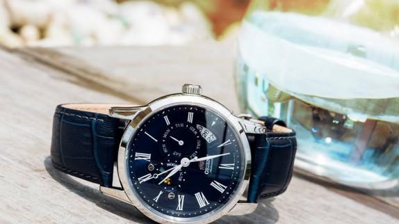Mẫu đồng hồ Orient dây da - Phong cách doanh nhân