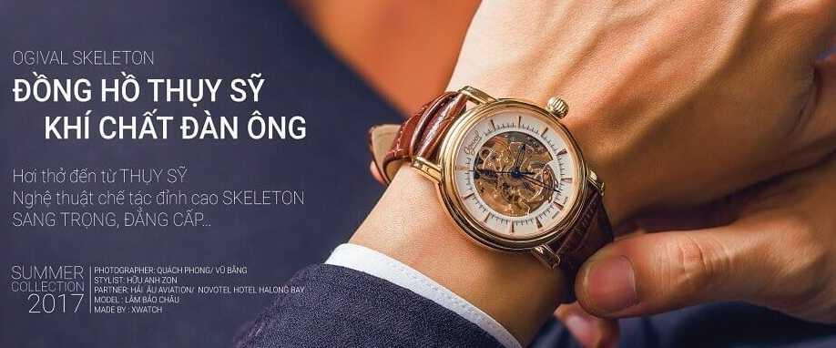 Đồng hồ nam 3 kim và vòng tay-Cách phối đồ cực đẹp cho nam giới