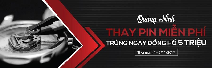 [EVENT HOT] Thay Pin Miễn Phí - Trúng Ngay Đồng Hồ 5 Triệu