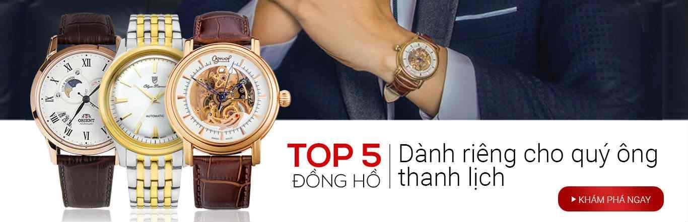 TOP 5 đồng hồ dành riêng cho quý ông thanh lịch
