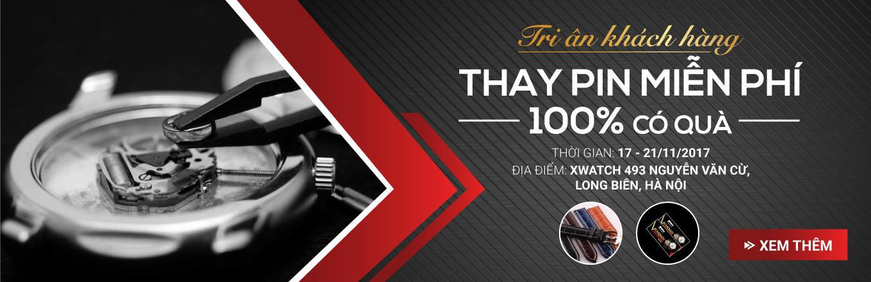 Event Tri ân khách hàng: BỐC THĂM 100% CÓ QUÀ - THAY PIN MIỄN PHÍ