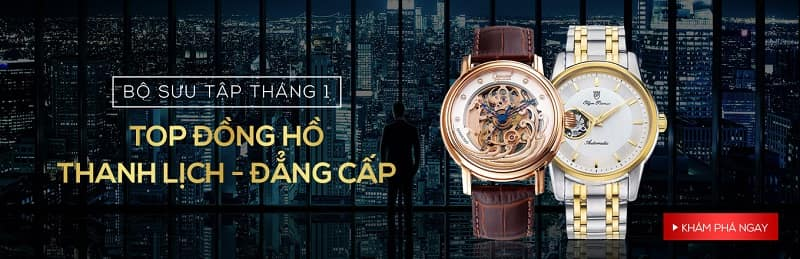 [Bộ sưu tập tháng 1] Top đồng hồ thanh lịch, đẳng cấp