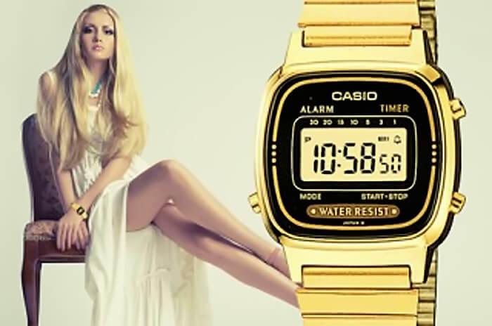 3 lý do đồng hồ Casio nữ gold được phái đẹp yêu thích