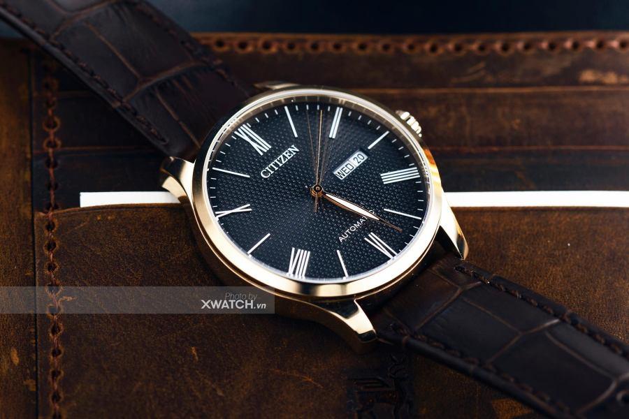 TOP 4 thiết kế đồng hồ đeo tay nam dây da Citizen nổi bật nhất