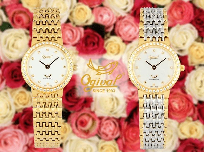 """Đồng hồ Ogival Diamond 385 - Siêu phẩm mỏng manh """"nhỏ mà có võ"""""""