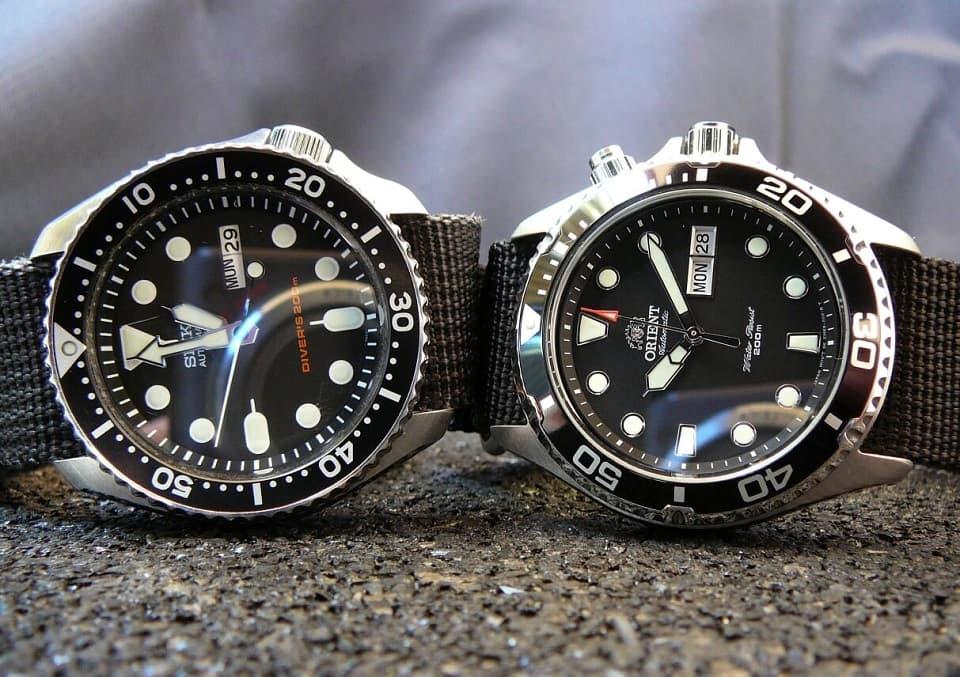 So sánh đồng hồ chính hãng Seiko và Orient