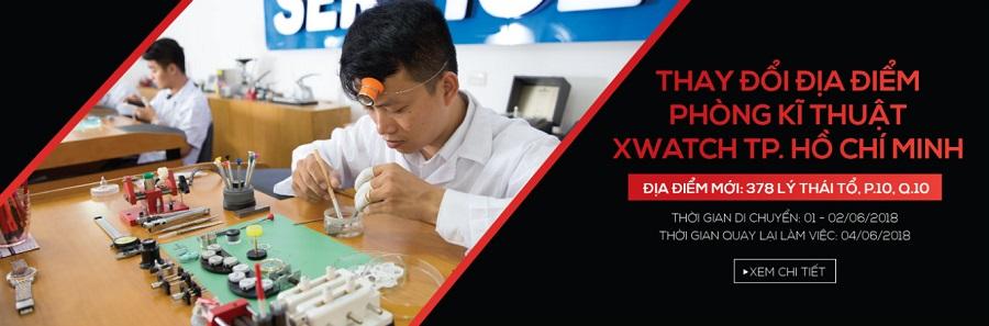 XWATCH TP. Hồ Chí Minh thông báo: CHUYỂN ĐỊA ĐIỂM PHÒNG KỸ THUẬT XWATCH TP. HỒ CHÍ MINH VỀ 378 LÝ THÁI TỔ