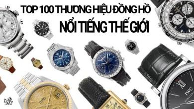 Top 100 thương hiệu đồng hồ thế giới bao gồm những cái tên nào?