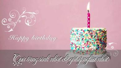 Quà tặng chị gái ngày sinh nhật ý nghĩa và phù hợp nhất