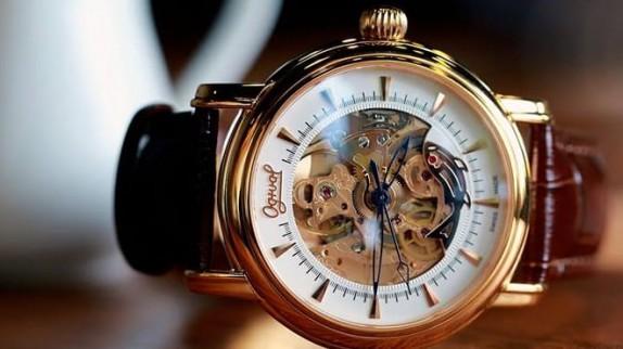 Loại dây da dùng cho đồng hồ Ogival nam chính hãng