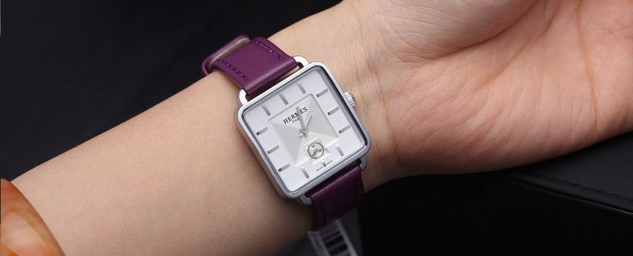 2 chất liệu da phổ biến nhất được dùng cho đồng hồ dây da nữ đẹp