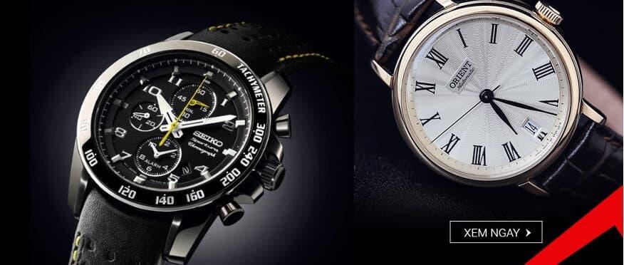 So sánh đồng hồ nam dây da của Seiko và Orient