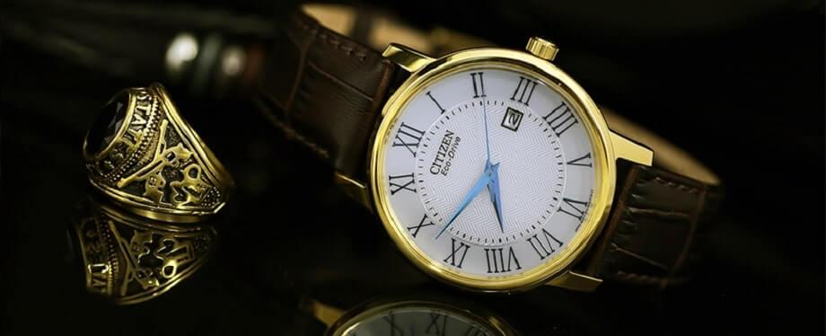Mua đồng hồ nam dây da mặt tròn chính hãng với giá dưới 3 triệu