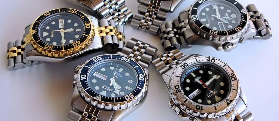 Đồng hồ Seiko Kinetic ở cửa hàng đồng hồ Seiko chính hãng