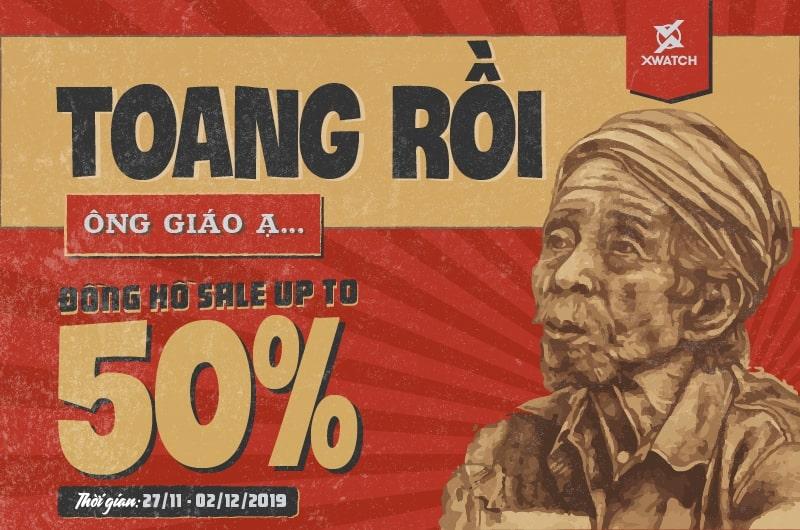 TOANG RỒI, ÔNG GIÁO Ạ! ĐỒNG HỒ SALE UP TO 50% !