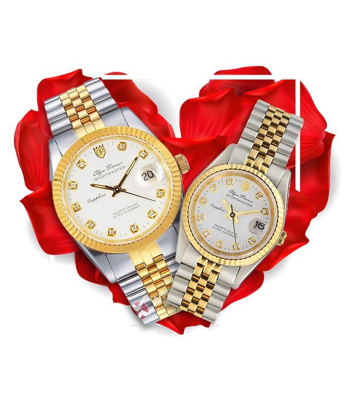 Đồng hồ đôi OP OP89322SK-T + OP68322SK-T