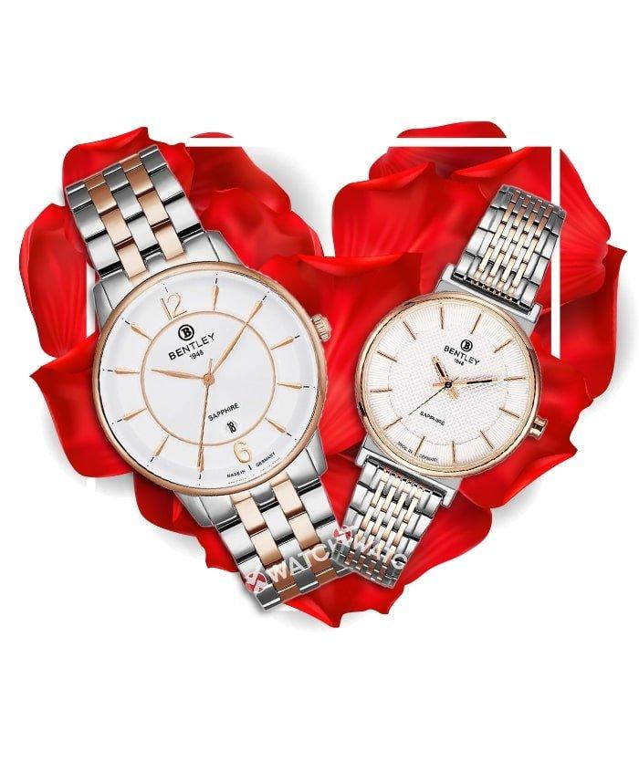 Đồng hồ đôi Bentley BL1855-10MTCI-R-MSR-T + BL1855-10LTCI-R-LSR-T