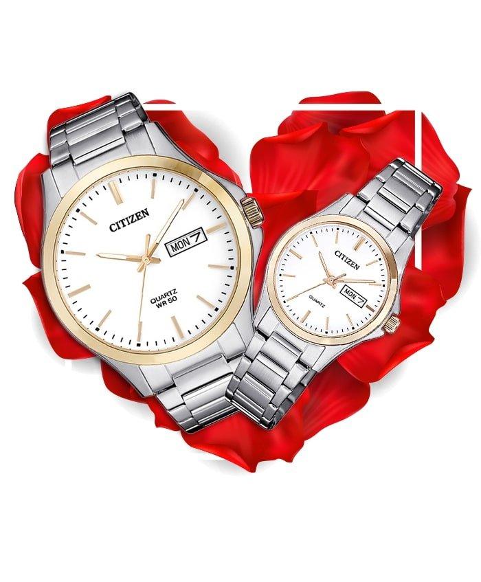 Đồng hồ đôi Citizen BF2006-86A + EQ0596-87A