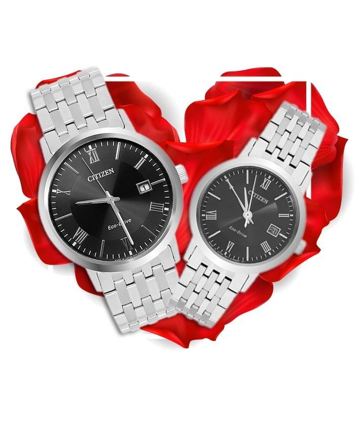 Đồng hồ đôi Citizen BM6770-51E + EW1580-50E