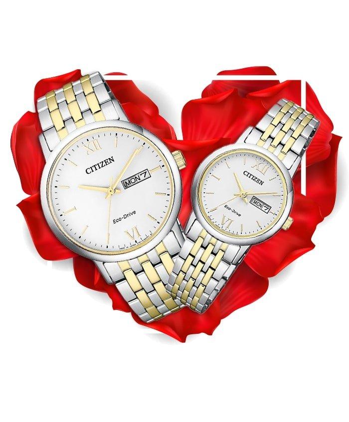 Đồng hồ đôi Citizen BM9014-82A + EW3254-87A