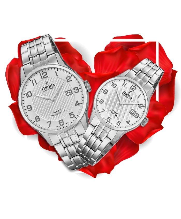 Đồng hồ đôi Festina F20005/1 + F20006/1
