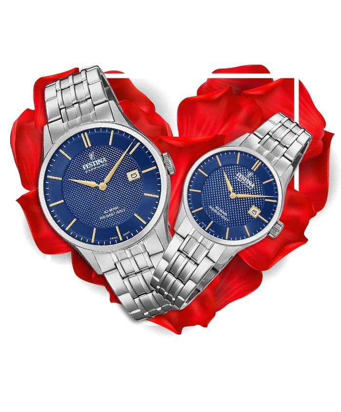 Đồng hồ đôi Festina F20005/3 + F20006/3