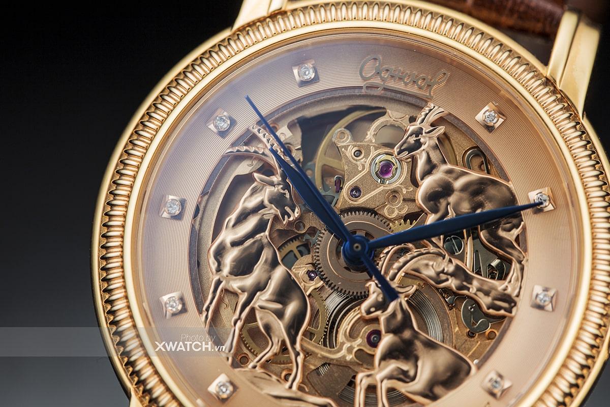 Đồng hồ Ogival 3 con Dê Vàng