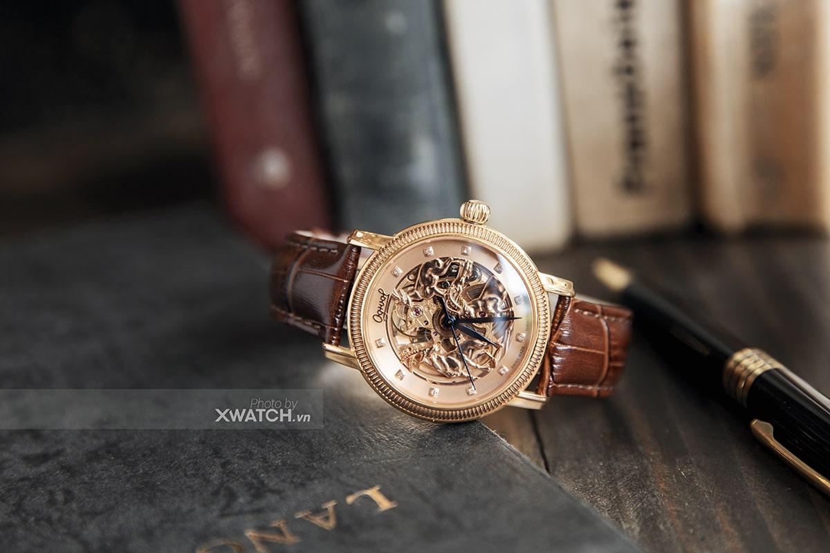 Đồng hồ mặt dê vàng