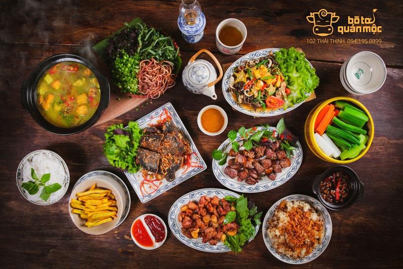 40 món ăn tại Bò Tơ Quán Mộc