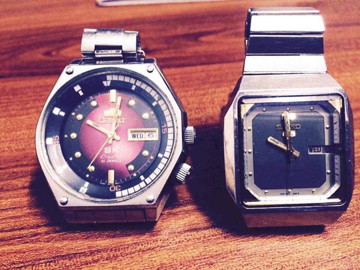 Đồng hồ Orient SK mặt lửa cũ
