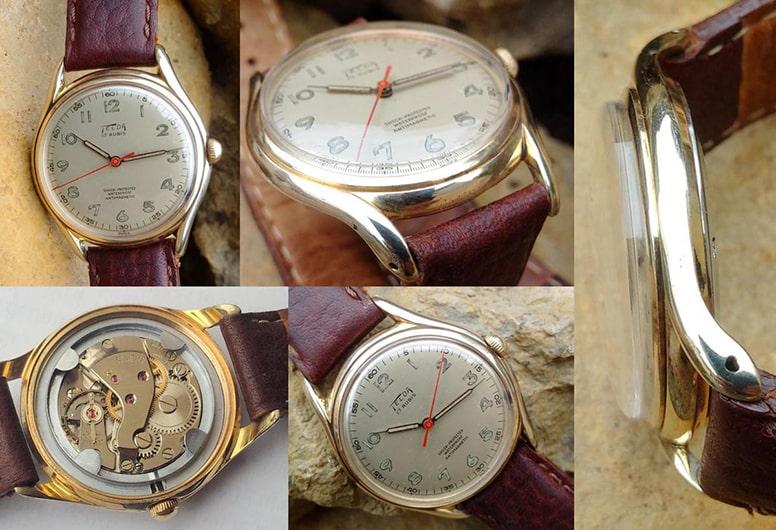 Đồng hồ Telda cổ bằng vàng 1950