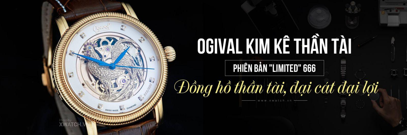 Đồng hồ Ogival Kim Kê Thần Tài OG358.37AGR-GL