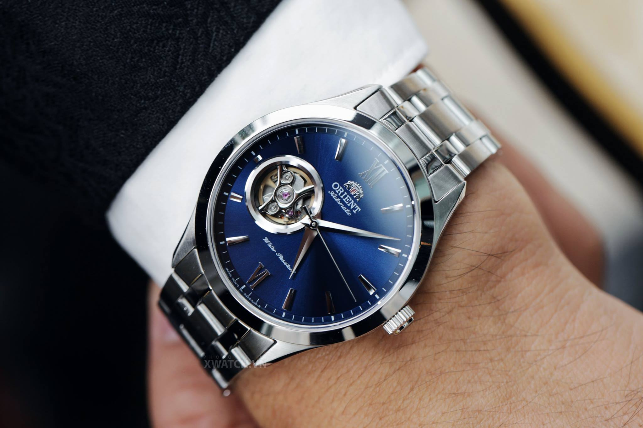 đồng hồ cơ dây kim loại orient chính hãng
